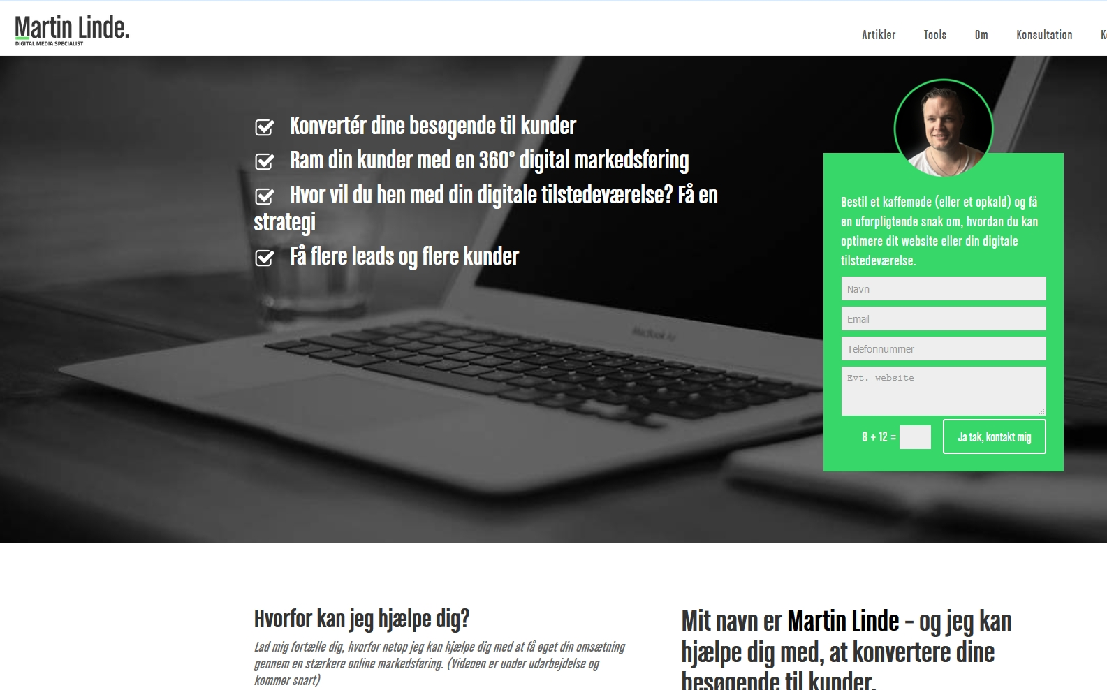 Detaljer : Martin Linde - Online Marketing Konsulent