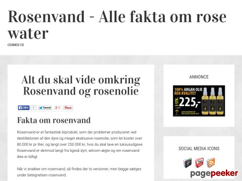 Rosenvand og rose water