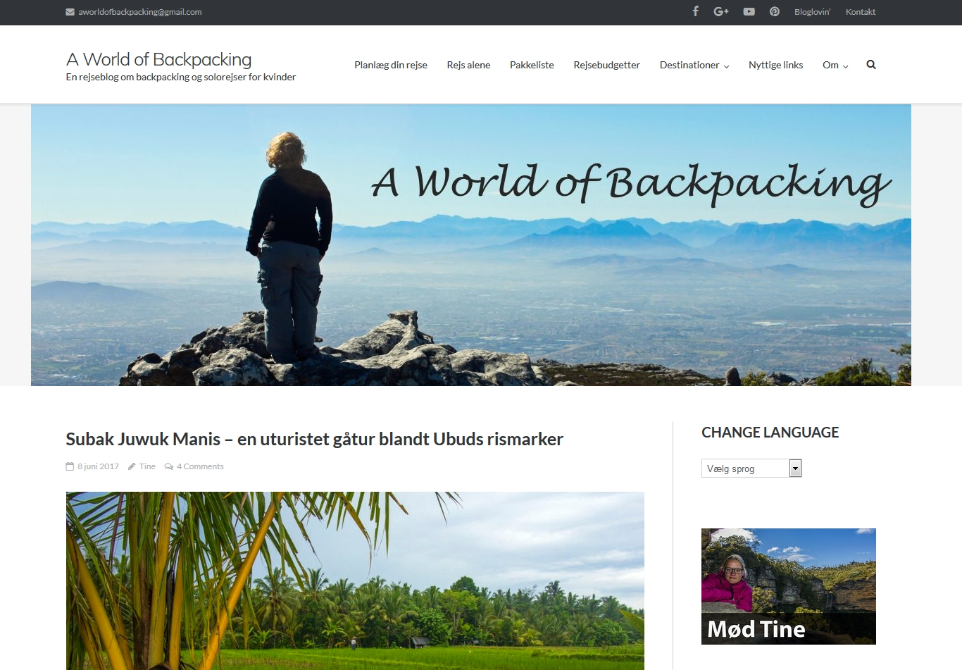Detaljer : A World of Backpacking