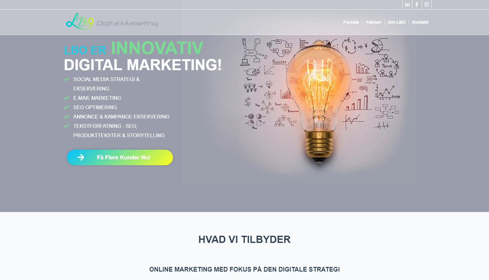 Detaljer : LBO digital marketing