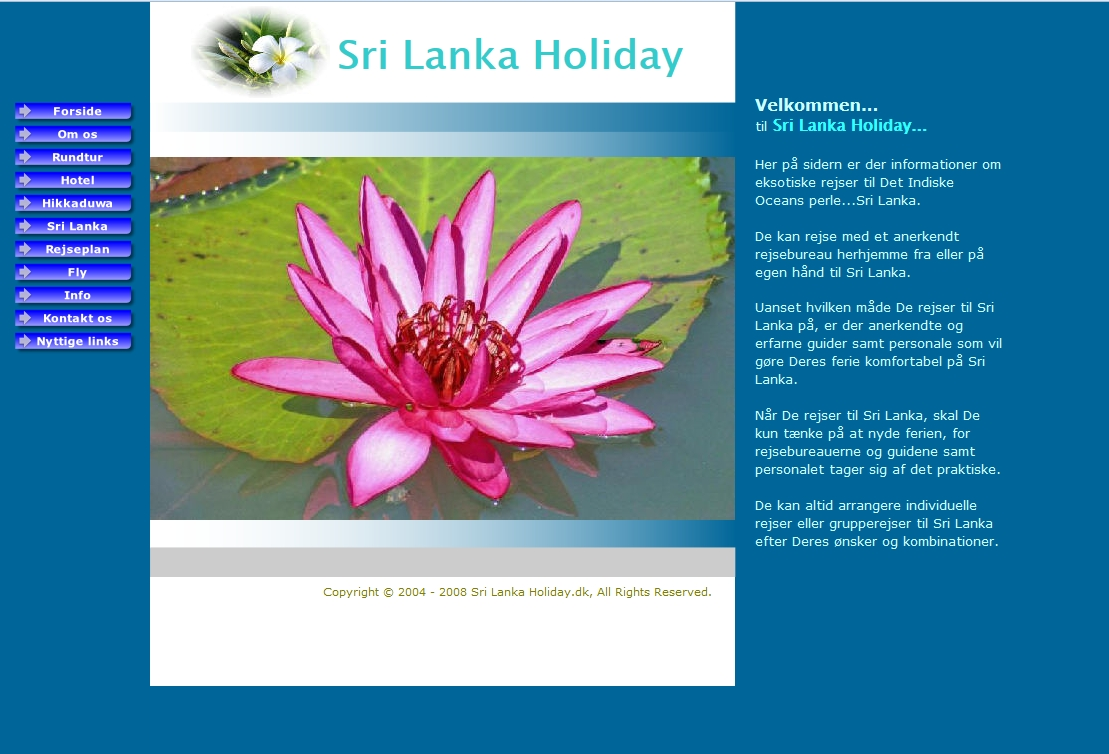 Detaljer : Sri Lanka Holiday