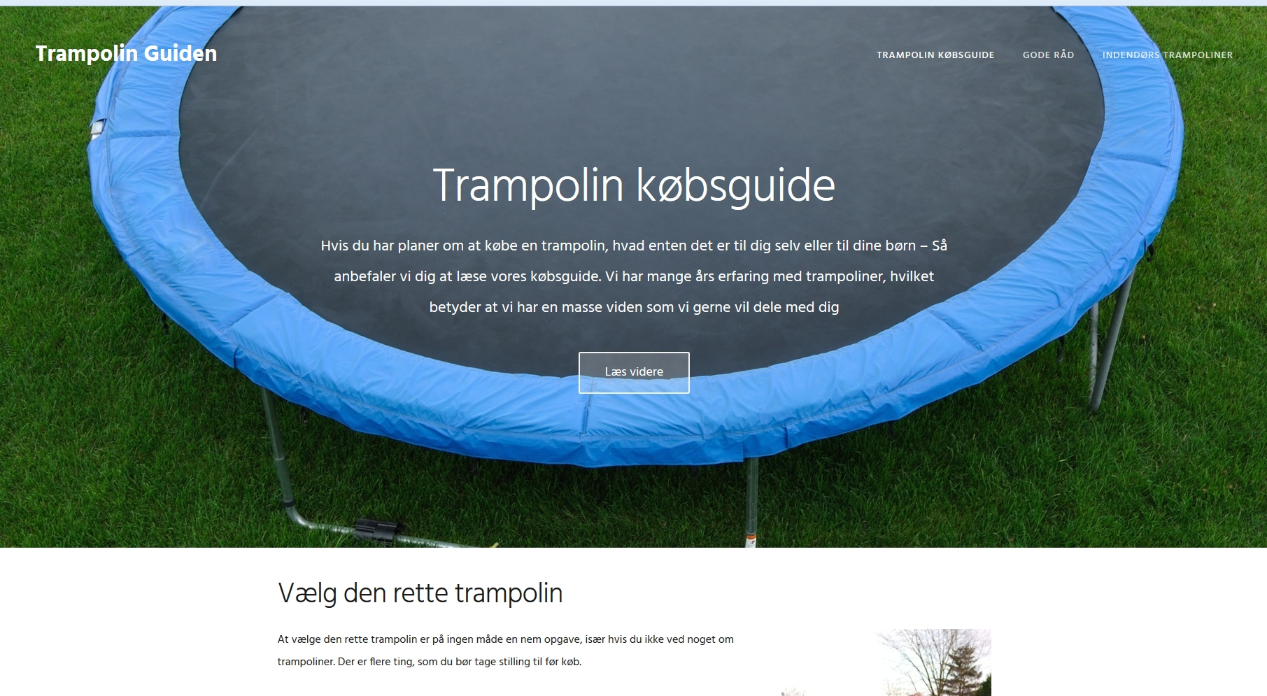 Trampolin guiden